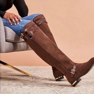 Brown Riding Knee High Boots Size 7.5